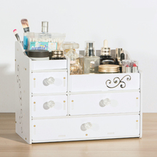 drawer style cosmetic storage box/hollow waterproof moisture flame retardant jewelry racks(China)