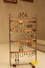 1 pc free shipping  earring display stand bronze earring holder 48 holes wholesale price