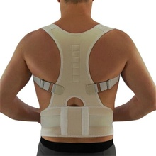 New Spine Support Belt for Men Women Magnetic Shoulder Back Belt Posture Corrector Neoprene Back Corset Brace Straightener(China)
