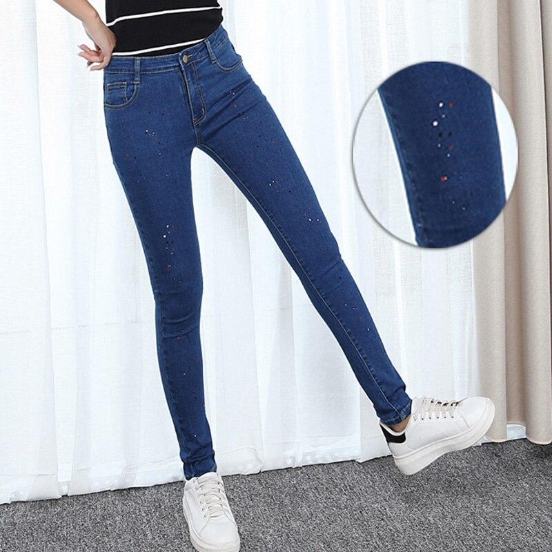Spring autumn fashion brand plus size 32-42 jeans blue color casual brand denim pants woman pencil jean trousers women big sizeОдежда и ак�е��уары<br><br><br>Aliexpress