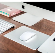Free shipping Notebook metal mouse pad small aluminum office hard For mac computer aluminum creative pad