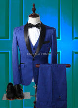 2016 New Arrival Men's Royal Blue Tuxedos Slim Fit Groom Suit For Man Latest Men Wedding Suits Terno Masculino Custom Made