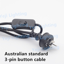 Australian standard 3-pin plug with button switch cable power wire cord use for table lamp Lighting Accessories