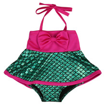 girls one piece swimwear Mermaid Swimsuit bikini meisje children's swimwear girls bathing suits baby swimming suit toddler swim(China)