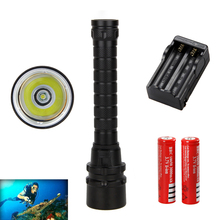 Rechargeable Led Waterproof 5000LM XML T6 LED Diving Flashlight Scuba Torch IPX8 New