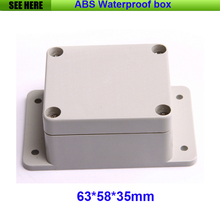 Free Shipping Plastic Waterproof Enclosure Electric Meter Waterproof Box Instrument Plastic Junction Box With Ear 63*58*35mm