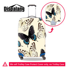 Dispalang Travel Luggage Protective Covers 3D Animal Butterfly Print Elastic Suitcase Protect Cover For 18-30 Inch Trolley Case