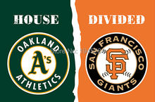 Oakland Athletics San Francisco Giants House Divided Flag Banner New 3x5FT 90x150CM Polyester MLB 3107, free shipping(China)