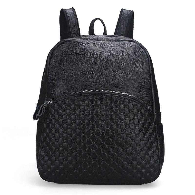 The new cowhide embossed fashion ladies leather shoulder bag shoulder bag leather leisure backpack<br>
