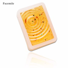 Facemile 1PCS New Transparent Fingerprint Water Ripples Silicone Mould Square DIY Epoxy Jewelry Mold 50-365(China)