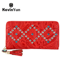 KEVIN YUN Designer Brand Fashion Women Wallets PU Leather Tassel Female Clutch Wallet Purse(China)