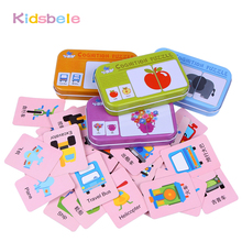 Baby Early Learning Toys Puzzle Jigsaw 16PCS/Lot Animal/Fruit/Vehicle Montessori Toys For Kids Coloring Board Intelligence Toy
