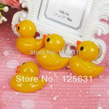 Kawaii Flatback DIY Resin Cabochons Flat Back Yellow Duck Scrapbooking Embellishment Decoration Crafts Making:28*26mm(China)