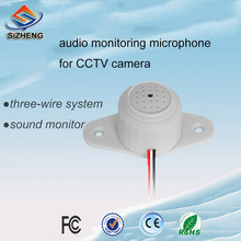 SIZHENG mini low noise CCTV microphone ceiling audio monitoring sound pickup device for security ip camera