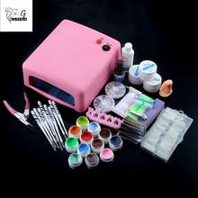 Gustala 36W Nail Art Tools Set Kit Gel Polish UV LED Ultraviolet Lamps For Drying Nail Dryer Manicure Top Set Nail Gel Tools(China)