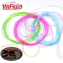 Wifreo Clear Stretch Rib Round Larvae Lace Nymph Ribbing Material Body Fly Tying Line New Green Red Brown Pink Multiple Color(China)