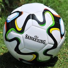 SANKEXING Brand Professional Match Training Soccer Ball Game Football Anti-slip Ball imported soft leather Size 5 Football Balls(China)