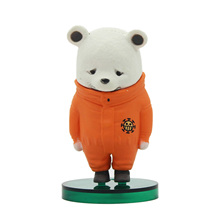 Chanycore Anime ONE PIECE Action Figures WCF ZOO 4 Trafalgar Law Bepo Bear apologize Style collect toys(China)