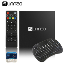 (US Stock)Original SUNNZO X96 Android TV Box 1+8GB eMMC Amlogic S905X Quad Core Smart Media Player Set top Box+Keyboard PK X92(China)