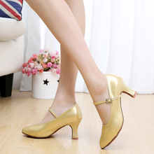 New Heeled Modern Dance Shoes For Ladies Ballroom Tango Salsa Latin Dancing Shoes Women's Modern Dance Shoes Gold Silver Black