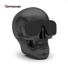 Toproad Portable Bluetooth Speaker Skull Wireless Speaker Stereo Subwoofer Sound Box System 3D Stereo Hands-free Audio Player(China)