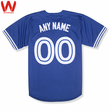 Custom Made Men/Women/Youth High Quality Embroidered Logos&Name&Number Baseball Jerseys Color Blue Red White(China)