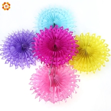 1PC 10''(25CM) Honeycomb Tissue Hollow Hanging Paper Fans For Home Garden Wedding / Kids Birthday Party / Baby Shower Decoration