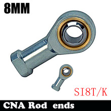 HOT SALE SI8T/K PHSA8 8mm right hand female thread metric rod end joint bearing SI8TK