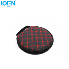 1PCS Microfiber Leather Car 20 CDs Holder CD DVD  Disc Storage Case Round Interior Accessories Car-Styling Red&Black