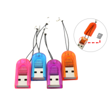 100pcs/lot MINI Super Speed USB Micro SD TF T-Flash Card Reader Adapter(China)