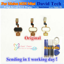 High Quality New Home Button Key Replacement For Meizu M3S Mini Cell Phone Free Shipping and Tools