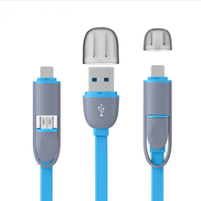 MOONBIFFY High Quality 8pin 2 in 1 Micro USB Cable Sync Data Charger Cable For iPhone 5 6 6S Plus Samsung S3 S4 S5 Android Phone
