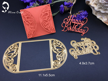 Metal cutting dies butterfly card frame happy birthday Scrapbook card album paper craft home decoration embossing stencil cutter