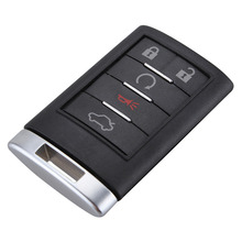 5Button Smart Keyless Remote Car Key Shell Pad Case For Cadillac 2008-2012