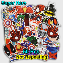 50 PCS Super Hero Cartoon Sticker for Laptop Luggage Bags Bike Phone Car Styling Cool Stickers Toys Doodle PVC Creative Decals(China)
