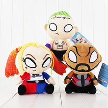 3pcs/lot DC Comics Suicide Squad Plush Toy Task Force X Stuffed Doll Harley Quinn Deadshot Joker with Tag 18-20cm