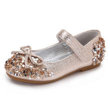 Summer New princess shoes children's shoes girls diamond crystal sequins shiny bow shoes kids fashion sandals