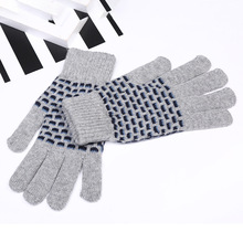 2017 Promotion Adult Tactical Gloves Manufacturers Wholesale Unisex Knitted Warm Custom New Outdoor Cashmere Finger Patchwork(China)