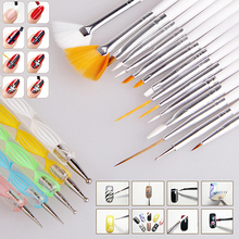 Designed 20Pcs Nail Art Salon Design Set Dotting Painting Drawing Polish Brushes Pen Tools 5GTC