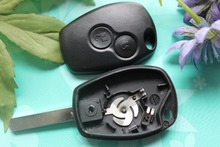2 Buttons Car Key Shell Cover Keyless Entry Fob Key Blank Case Replacement Fit For Renault Clio Modus Twingo Kangoo Master