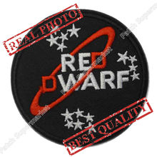 "3"" RED DWARF Science Iron On Sew On Patch For Baseball Cap Tshirt TRANSFER MOTIF APPLIQUE Rock Punk Badge Free shipping"