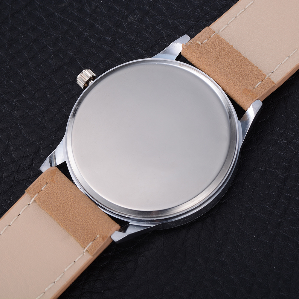 Shellhard New Fashion Simple Men Alloy Quartz Watch Casual PU Leather Band Strap Wrist Watches Perfect For Businessman