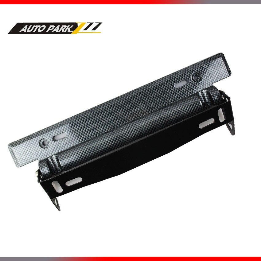 Adjustable carbon Fiber style plastic license plate frame,wholesale plastic license plate frame