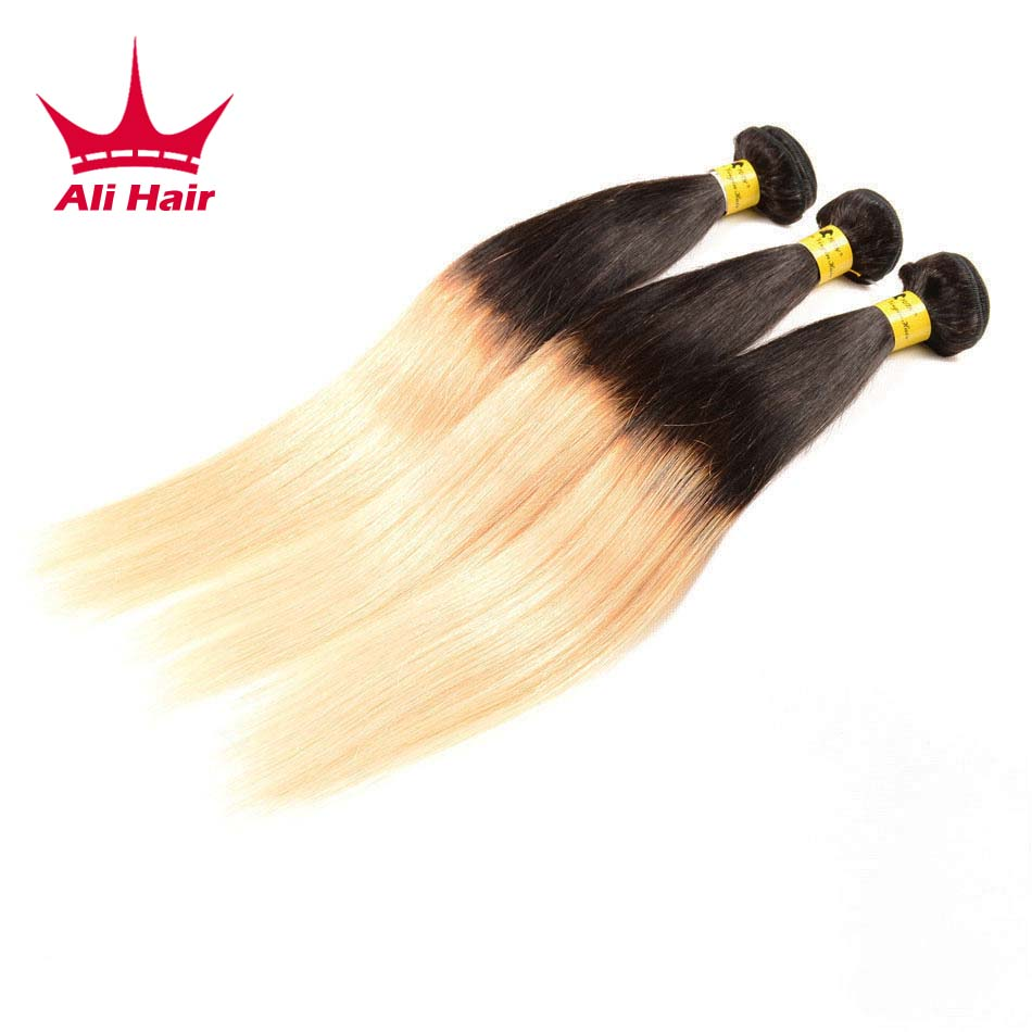 T 1b 27 Ombre Brazilian Virgin Hair 3 Pcs/Lot 14-24inch Ombre Brazilian Straight Hair 3 Bundles 7A Ombre Human Hair Extensions<br><br>Aliexpress