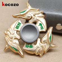 Buy Fox Fidget Spinner Toy EDC Hand Spinner Autism ADHD Stress Relieve Toy Adults Kid Metal Top Spinner Toy Kids GIfts for $5.84 in AliExpress store