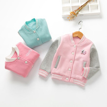 New Arrival Autumn Winter Baby Girls Jackets Fashion Cotton Children's Clothes Sport Coats Girl's Outerwear & Coats Kids wear(China)