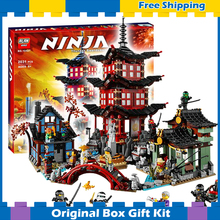 202Bela 10427 Temple Airjitzu Building Blocks Ninja Model Bricks Best Large Gifts Toys Compatible lego - Cheery baby store