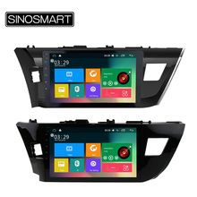 SINOSMART Support 4G 10.1'' 4 Core RAM 2G/1G Android 6.0 Car Radio GPS Navigation Player for Toyota Corolla/Levin 2014(China)