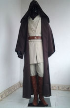 Free Shipping Cosplay Costume Star Wars Obi-Wan Kenobi Jedi Knight Suits New in Stock Retail / Wholesale Halloween Christmas