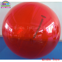 Free air pump summer games giant waterballs ,inflatable walking ball on the water for pool(China)